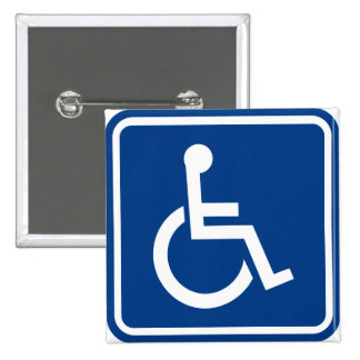 Handicapped Accessible Sign Button Badge
