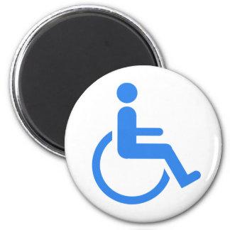 Handicapped blue design! 2 inch round magnet