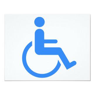Handicapped blue design! 4.25x5.5 paper invitation card