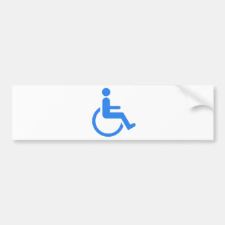 Handicapped blue design! bumper sticker