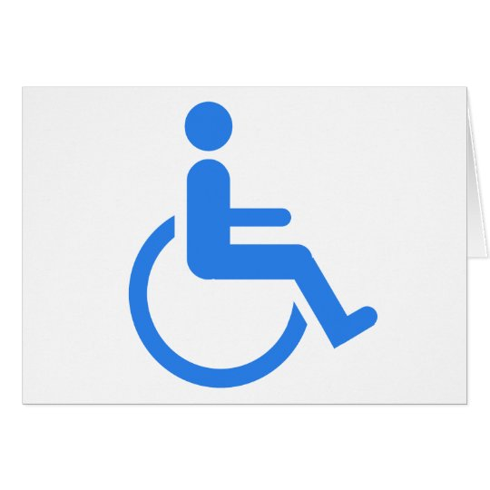 Handicapped blue design! card