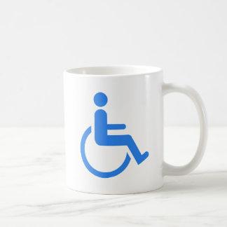 Handicapped blue design! coffee mugs