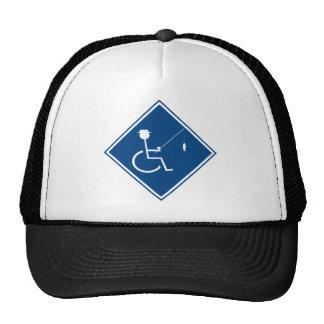 handicapped fishin sign 3 trucker hat