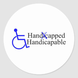 Handicapped Handicapable 2 Round Stickers