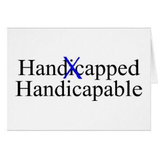 Handicapped Handicapable Card