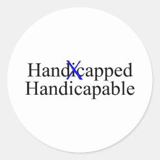 Handicapped Handicapable Classic Round Sticker