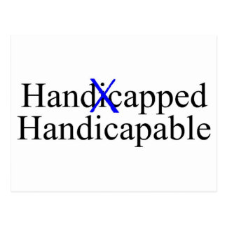 Handicapped Handicapable Post Card