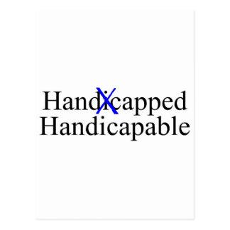 Handicapped Handicapable Postcard