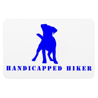 Handicapped Hiker-Jack Russell Rectangular Photo Magnet