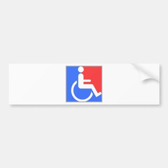 Handicapped original design! bumper sticker