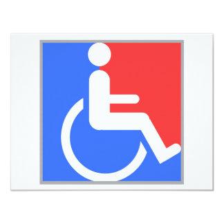 Handicapped original design! card