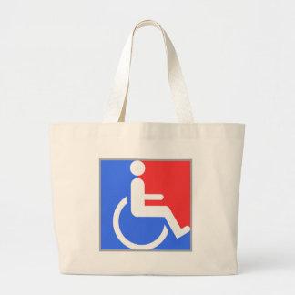 Handicapped original design! large tote bag