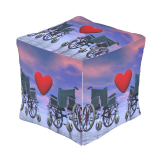Handicapped persons love - 3D render Outdoor Pouf