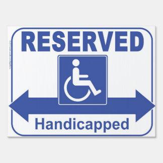 Handicapped Reserved Parking Traffic Sign