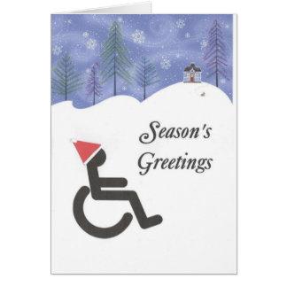 Handicapped Season's Greetings Card