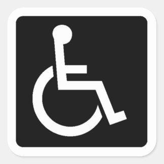 Handicapped Sign Square Sticker