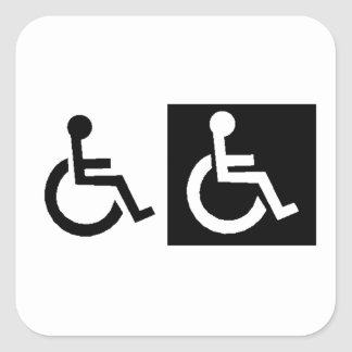 Handicapped Square Sticker