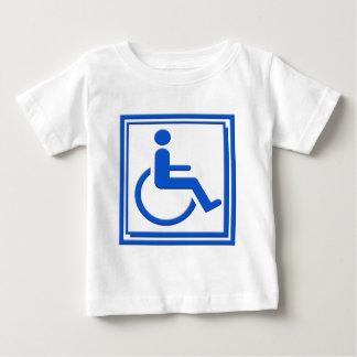 Handicapped Stylish Symbol Blue Baby T-Shirt
