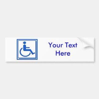 Handicapped Stylish Symbol Blue Bumper Sticker