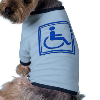 Handicapped Stylish Symbol Blue Doggie T-shirt