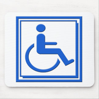 Handicapped Stylish Symbol Blue Mouse Pad