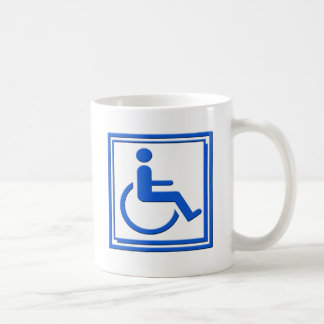 Handicapped Stylish Symbol Blue Mug