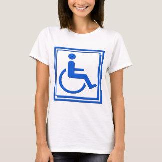 Handicapped Stylish Symbol Blue T-Shirt