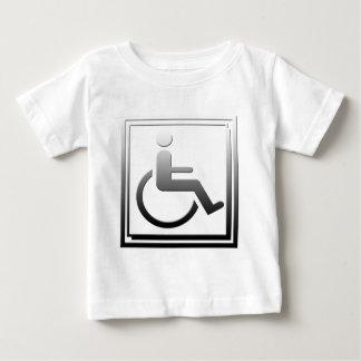 Handicapped Stylish Symbol Chrome Silver Baby T-Shirt