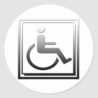 Handicapped Stylish Symbol Chrome Silver Sticker