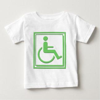 Handicapped Stylish Symbol Green Baby T-Shirt