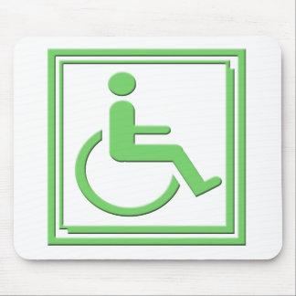 Handicapped Stylish Symbol Green Mouse Pad