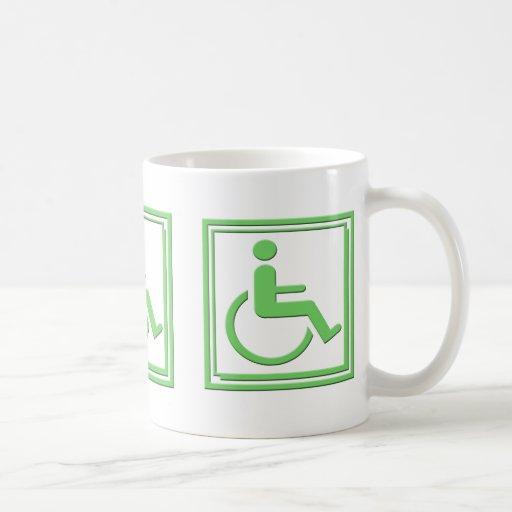 Handicapped Stylish Symbol Green Classic White Coffee Mug