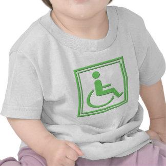 Handicapped Stylish Symbol Green Tee Shirt