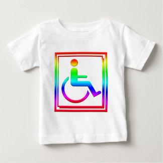 Handicapped Stylish Symbol Multicolored Baby T-Shirt