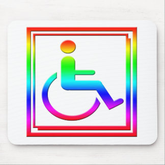 Handicapped Stylish Symbol Multicolored Mouse Pad