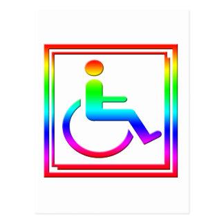 Handicapped Stylish Symbol Multicolored Postcard