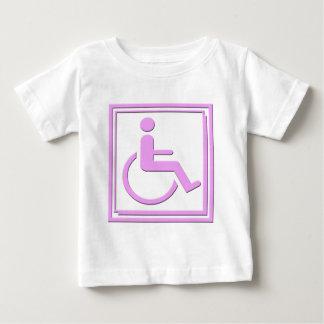 Handicapped Stylish Symbol Pink Baby T-Shirt