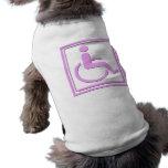 Handicapped Stylish Symbol Pink Doggie T Shirt