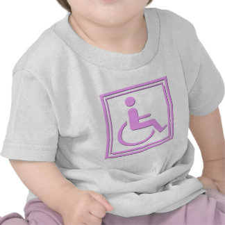Handicapped Stylish Symbol Pink Tshirt