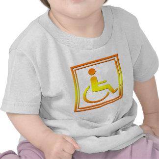 Handicapped Stylish Symbol Yellow Orange Tshirt