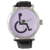 Handicapped Symbol Wrist Watch