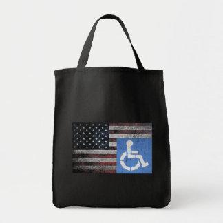 Handicapped Veteran Flag Tote Bag