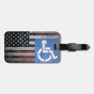 Handicapped War Vet. Bag Tag