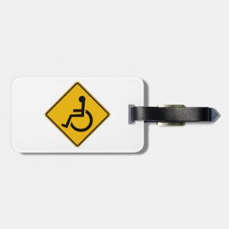 Handicapped Warning, Traffic Warning Sign, USA Bag Tag