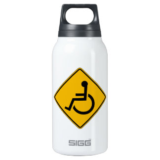 Handicapped Warning, Traffic Warning Sign, USA Insulated Water Bottle
