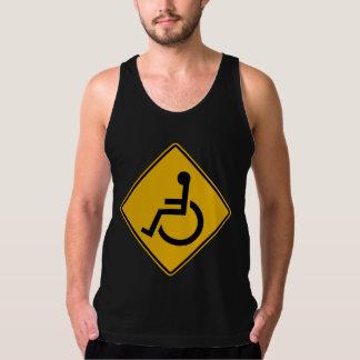 Handicapped Warning, Traffic Warning Sign, USA Tank Top