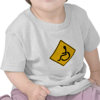 Handicapped Warning, Traffic Warning Sign, USA T Shirt