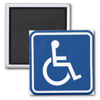 Handicapped Wheelchair Accessible Sign 2 Inch Square Magnet