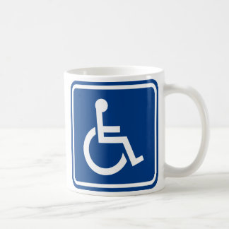 Handicapped Wheelchair Accessible Sign Classic White Coffee Mug