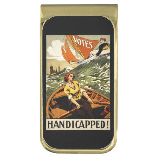 Handicapped without the Vote Gold Finish Money Clip